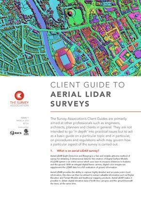 Aerial LiDAR Surveys – New TSA Client Guide
