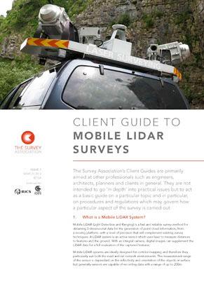 Mobile LiDAR Surveys – New TSA Client Guide