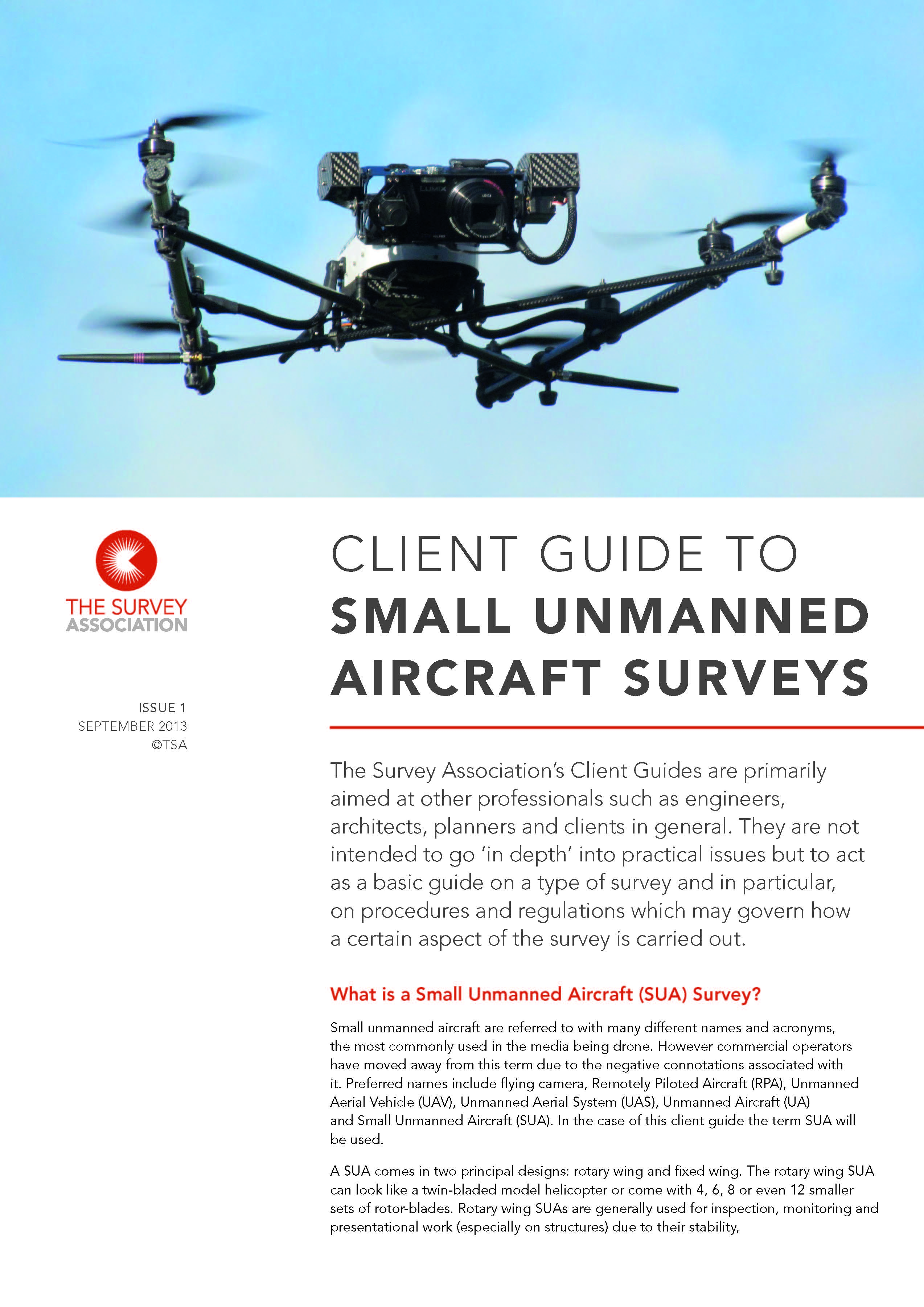 New TSA Client Guide on Small Unmanned Aircraft (SUA) Surveys