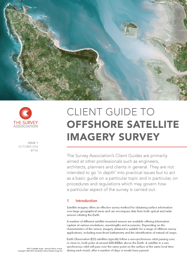 New TSA Client Guide on Offshore Satellite Imagery Survey