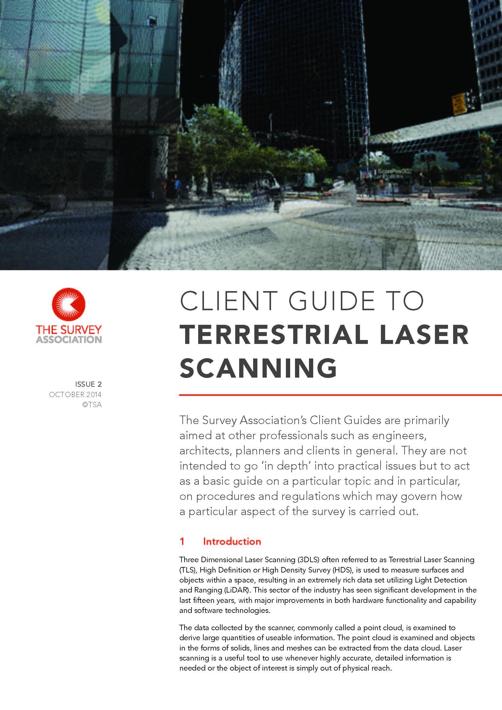 Revised TSA Client Guide on Terrestrial Laser Scanning