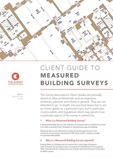 The Survey Association's (TSA) Guidance Notes